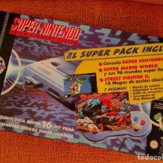 Videojuegos y Consolas: SUPER NINTENDO ORIGINAL PACK STREET FIGHTER 2. Lote 218898136