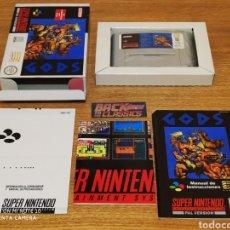 Videojuegos y Consolas: GODS SUPER NINTENDO SNES. Lote 218936920