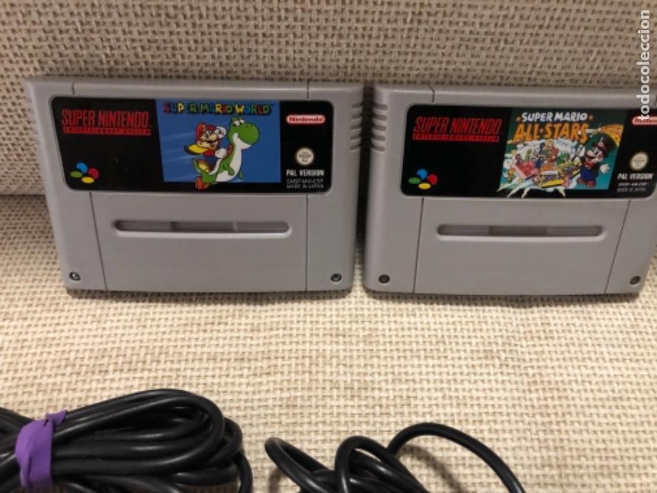 Videojuegos y Consolas: Consola súper Nintendo NES con juegos - Foto 3 - 219248670