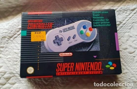 MANDO SUPER NINTENDO CON CAJA ORIGINAL (Juguetes - Videojuegos y Consolas - Nintendo - SuperNintendo)