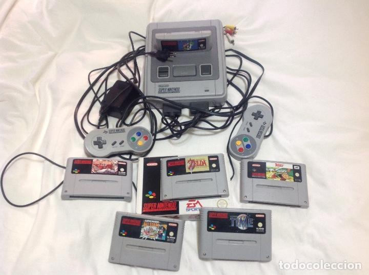 CONSOLA SUPERNINTENDO Y 7 JUEGOS (Juguetes - Videojuegos y Consolas - Nintendo - SuperNintendo)