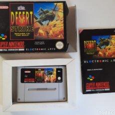 Videojuegos y Consolas: DESERT STRIKE COMPLETO SUPER NINTENDO SNES. Lote 221376326