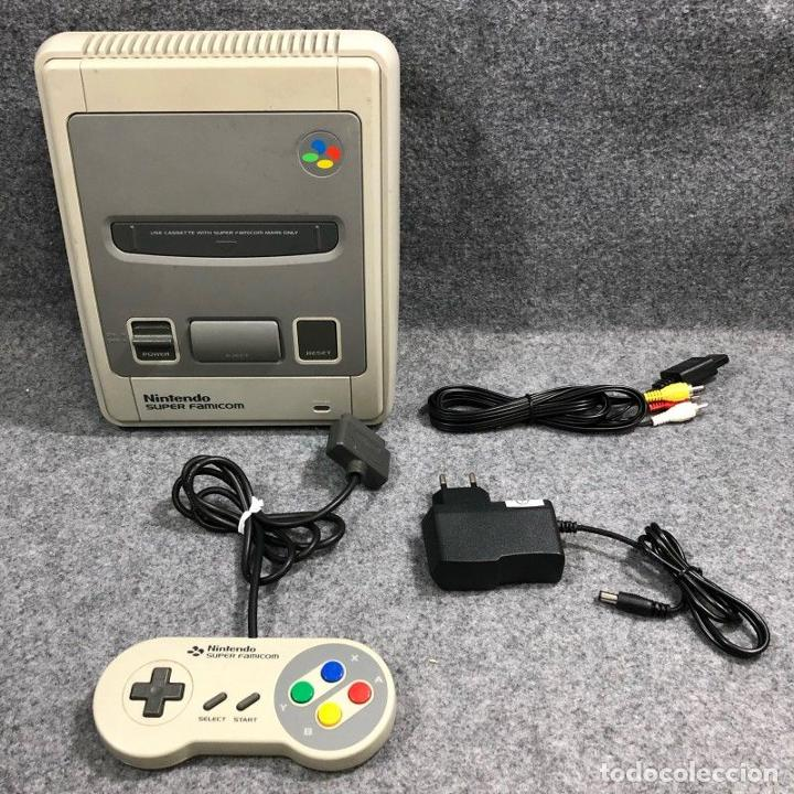 CONSOLA NINTENDO SUPER FAMICOM+MANDO+AV+AC SNES (Juguetes - Videojuegos y Consolas - Nintendo - SuperNintendo)