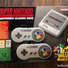 Videojuegos y Consolas: SUPER NINTENDO CLASSIC MINI 20 + 1 GAME CASI SIN USAR CONSOLA ORIGINAL. Lote 222067945