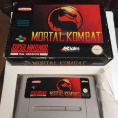 Videojuegos y Consolas: JUEGO SUPERNINTENDO MORTAL KOMBAT. Lote 222260062