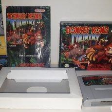 Videojuegos y Consolas: JUEGO DONKEY KONG COUNTRY EN CAJA COMPLETO PARA SUPER NINTENDO. Lote 222426748