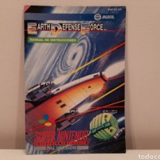 Videojuegos y Consolas: MANUAL EARTH DEFENSE FORCE SUPER NINTENDO SNES. Lote 222526221