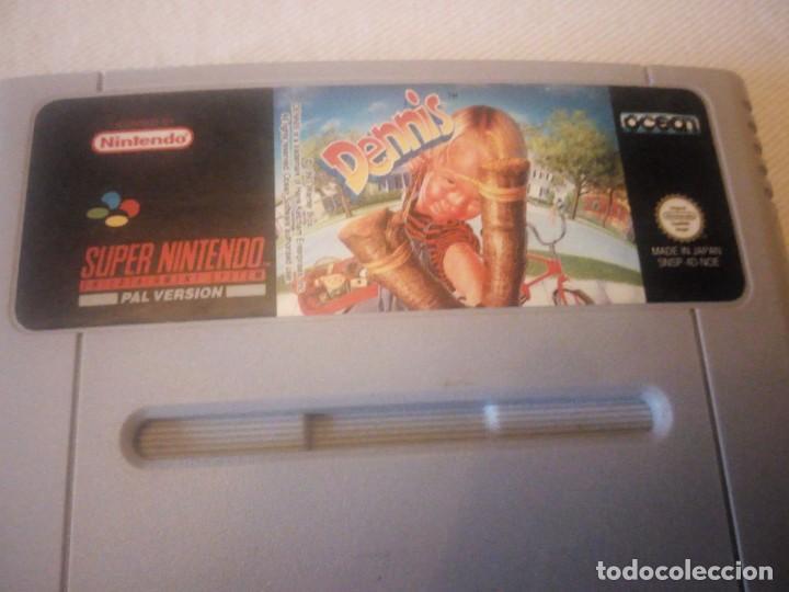 Videojuegos y Consolas: juego dennis pal version 1993,nintendo 1992 made in japan,ORIGINAL - Foto 2 - 223657923