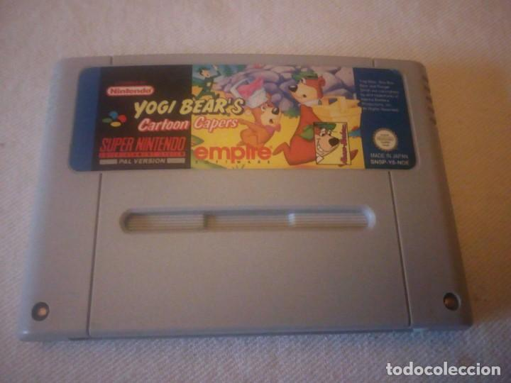 SUPER NINTENDO YOGI BEAR'S CARTOON CAPERS,PAL VERSION ORIGINAL (Juguetes - Videojuegos y Consolas - Nintendo - SuperNintendo)