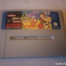 Videojuegos y Consolas: SUPER NINTENDO YOGI BEAR'S CARTOON CAPERS,PAL VERSION ORIGINAL. Lote 223658376