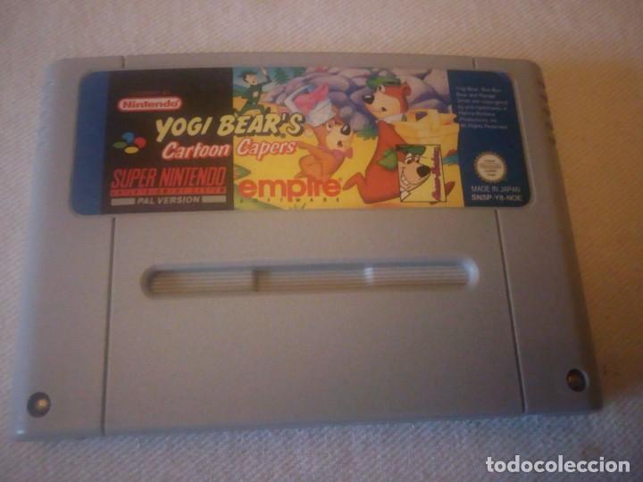 Videojuegos y Consolas: SUPER NINTENDO YOGI BEARS cartoon capers,pal version ORIGINAL - Foto 2 - 223658376
