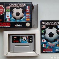 Videojuegos y Consolas: CHAMPIONS WORLD CLASS SOCCER COMPLETO SUPER NINTENDO SNES. Lote 225808642