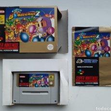 Videojuegos y Consolas: BOMBERMAN 2 COMPLETO SUPER NINTENDO SNES. Lote 229758555