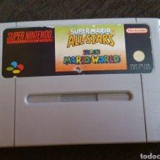 Videojuegos y Consolas: JUEGO SUPERNINTENDO SUPER MARIO ALL STARS + SUPER MARIO WORLD SUPER NINTENDO. Lote 232455085