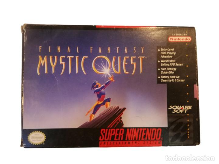 FINAL FANTASY MYSTIC QUEST COMPLETO SNES SUPER NINTENDO USA NTSC (Juguetes - Videojuegos y Consolas - Nintendo - SuperNintendo)