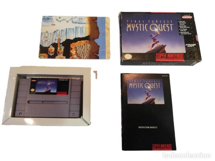 Videojuegos y Consolas: FINAL FANTASY MYSTIC QUEST COMPLETO SNES SUPER NINTENDO USA NTSC - Foto 2 - 232813485