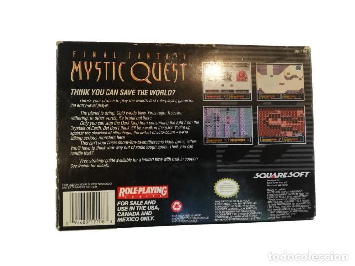 Videojuegos y Consolas: FINAL FANTASY MYSTIC QUEST COMPLETO SNES SUPER NINTENDO USA NTSC - Foto 11 - 232813485