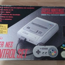 Videojuegos y Consolas: CONSOLA SUPER NINTENDO CON CAJA. Lote 236896275