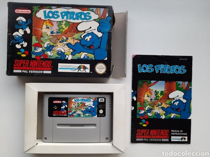 LOS PITUFOS SUPER NINTENDO SNES (Juguetes - Videojuegos y Consolas - Nintendo - SuperNintendo)