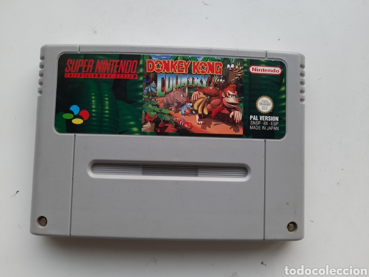 DONKEY KONG COUNTRY SUPER NINTENDO SNES (Juguetes - Videojuegos y Consolas - Nintendo - SuperNintendo)