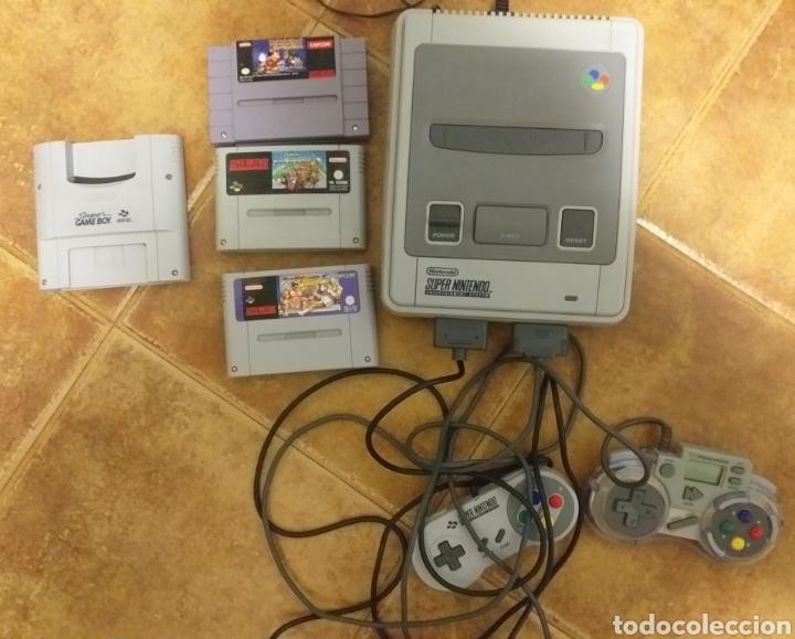 SÚPER NINTENDO FRANCESA MÁS TRES JUEGOS Y CONVERTIDOR DE GAMEBOY (Juguetes - Videojuegos y Consolas - Nintendo - SuperNintendo)
