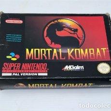 Videojuegos y Consolas: MORTAL KOMBAT [MIDWAY] 1992 ACCLAIM ENT INC. [SUPERNINTENDO SNES] [PAL] SNSP-KX-UKV KUMITE ARCADIA. Lote 237353805