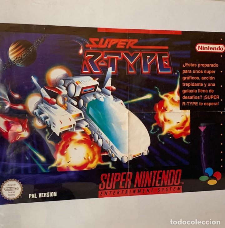 ANTIGUO PÓSTER SUPER R-TYPE SUPER NINTENDO PROMOCIONAL DE MATUTANO AÑOS 90 - 40 X60 CM (Juguetes - Videojuegos y Consolas - Nintendo - SuperNintendo)