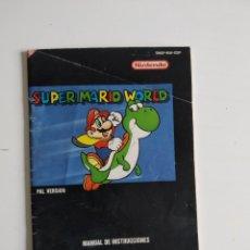 Videojuegos y Consolas: MANUAL DE INSTRUCCIONES SUPER MARIO WORLD ~ SUPER NINTENDO / SNES. Lote 241668120