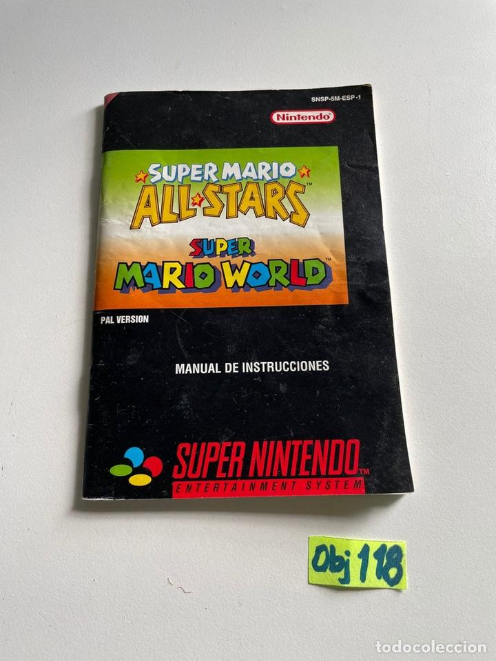MANUAL DE INSTRUCCIONES SÚPER MARIO (Juguetes - Videojuegos y Consolas - Nintendo - SuperNintendo)