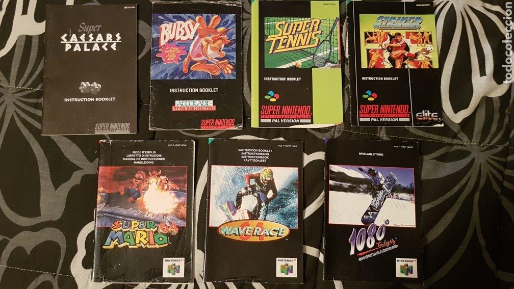 PACK DE MANUALES INSTRUCCIONES DE SNES Y N64 (Juguetes - Videojuegos y Consolas - Nintendo - SuperNintendo)