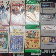 Videojuegos y Consolas: LOTE 14 JUEGOS SUPERNINTENDO Y ADAPTADOR. Lote 244540110