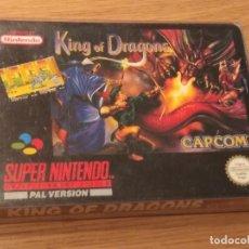 Videojuegos y Consolas: KING OF DRAGONS SUPER NINTENDO PAL ESPAÑOLIZADO ORIGINAL. Lote 244581795
