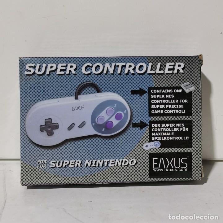 SUPER CONTROLLER FOR SUPER NINTENDO - EAXUS - NUEVO EN CAJA (Juguetes - Videojuegos y Consolas - Nintendo - SuperNintendo)