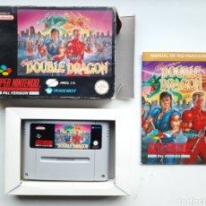Videojuegos y Consolas: DOUBLE DRAGON COMPLETO SUPER NINTENDO SNES. Lote 244899375