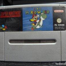 Videojuegos y Consolas: JUEGO DE SUPER NINTENDO SUPER MARIO WORLD. Lote 244951040