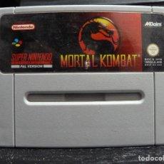 Videojuegos y Consolas: JUEGO DE SUPER NINTENDO MORTAL KOMBAT. Lote 244951060