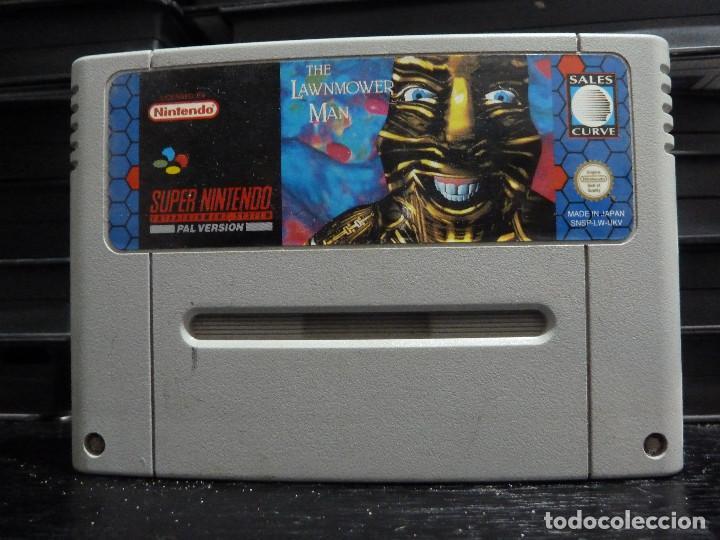 JUEGO DE SUPER NINTENDO THE LAWNMOWER MAN (Juguetes - Videojuegos y Consolas - Nintendo - SuperNintendo)