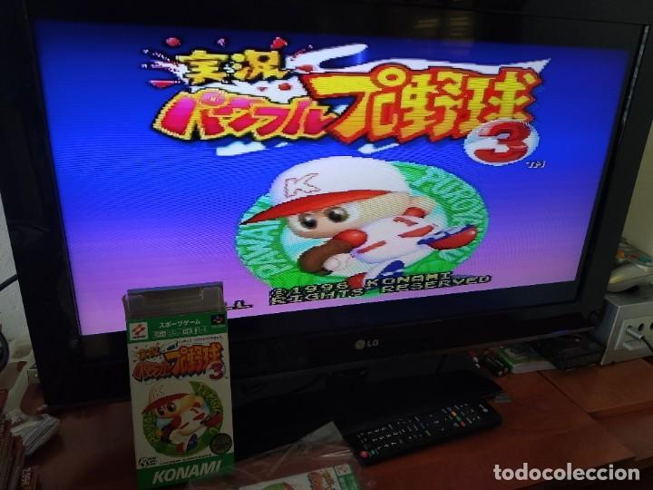 Videojuegos y Consolas: JIKKYOU POWERFUL PRO YAKYUU 3 SNES SUPER NINTENDO FAMICOM JAPAN - Foto 2 - 246198255