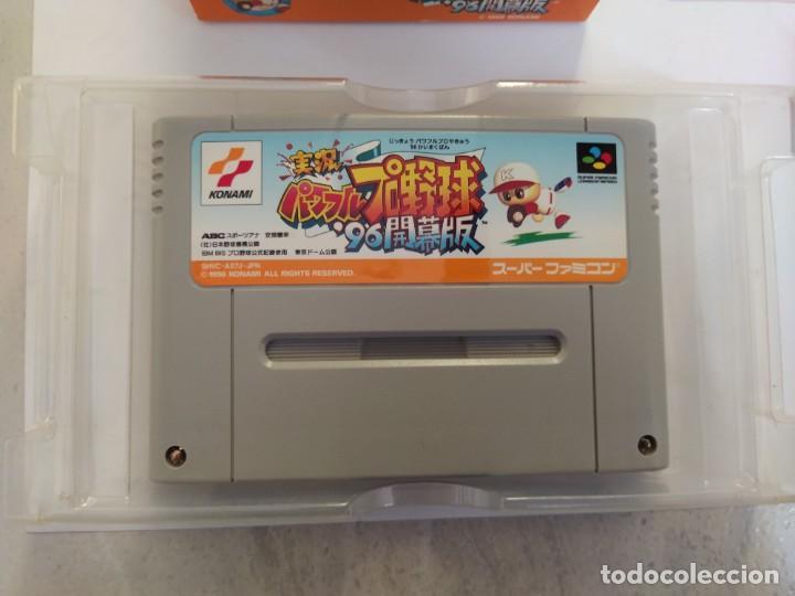 Videojuegos y Consolas: JIKKYOU POWERFUL PRO YAKYUU 96 KAIMAKUBAN SNES SUPER NINTENDO FAMICOM JAPAN - Foto 3 - 246198535