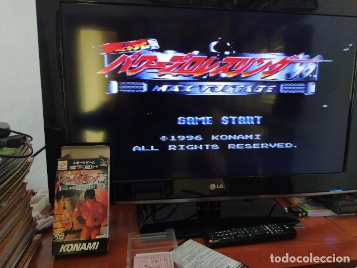Videojuegos y Consolas: PRO WRESTLING 96 MAX VOLTAGE SNES SUPER NINTENDO FAMICOM JAPAN COMPLETO - Foto 2 - 246203150