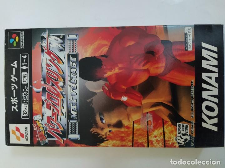 Videojuegos y Consolas: PRO WRESTLING 96 MAX VOLTAGE SNES SUPER NINTENDO FAMICOM JAPAN COMPLETO - Foto 7 - 246203150