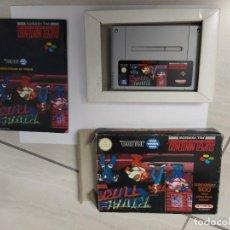 Videojogos e Consolas: RIVAL TURF SNES SUPER NINTENDO PAL-ESPAÑA COMPLETO. Lote 246281010