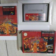 Videojuegos y Consolas: FINAL FIGHT SNES SUPER NINTENDO COMPLETO PAL-ESPAÑA ORIGINAL 100%. Lote 246288355