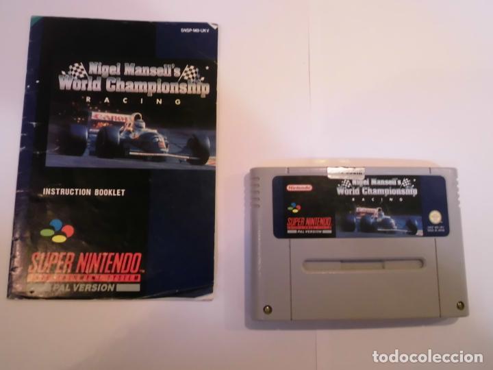 Videojuegos y Consolas: NIGEL MANSELL'S WORLD CHAMPIONSHIP RACING - JUEGO SUPERNINTENDO - SNES - Foto 2 - 246323910