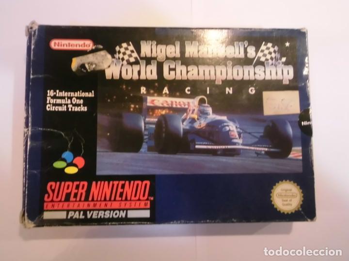 NIGEL MANSELL'S WORLD CHAMPIONSHIP RACING - JUEGO SUPERNINTENDO - SNES (Juguetes - Videojuegos y Consolas - Nintendo - SuperNintendo)