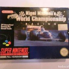 Videojuegos y Consolas: NIGEL MANSELL'S WORLD CHAMPIONSHIP RACING - JUEGO SUPERNINTENDO - SNES. Lote 246323910
