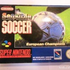 Videojuegos y Consolas: SENSIBLE SOCCER - JUEGO SUPERNINTENDO - SNES. Lote 246325125