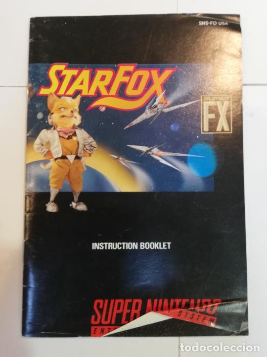 Videojuegos y Consolas: STARFOX - JUEGO SUPERNINTENDO - SNES - Foto 3 - 276694318