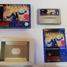 Videojuegos y Consolas: YOUNG MERLIN- JUEGO SUPERNINTENDO - SNES. Lote 246327645