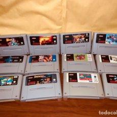 Videojuegos y Consolas: LOTE 12 JUEGOS SUPER NINTENDO SNES. Lote 246352365